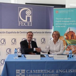 Cambridge English firma un convenio con la Federación Española de Centros de Enseñanza de Idiomas (FECEI)