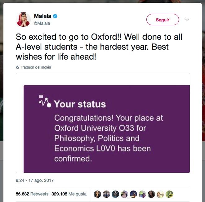 Malala Oxford