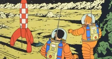 Tintín celebra los 50 años de la conquista de la luna