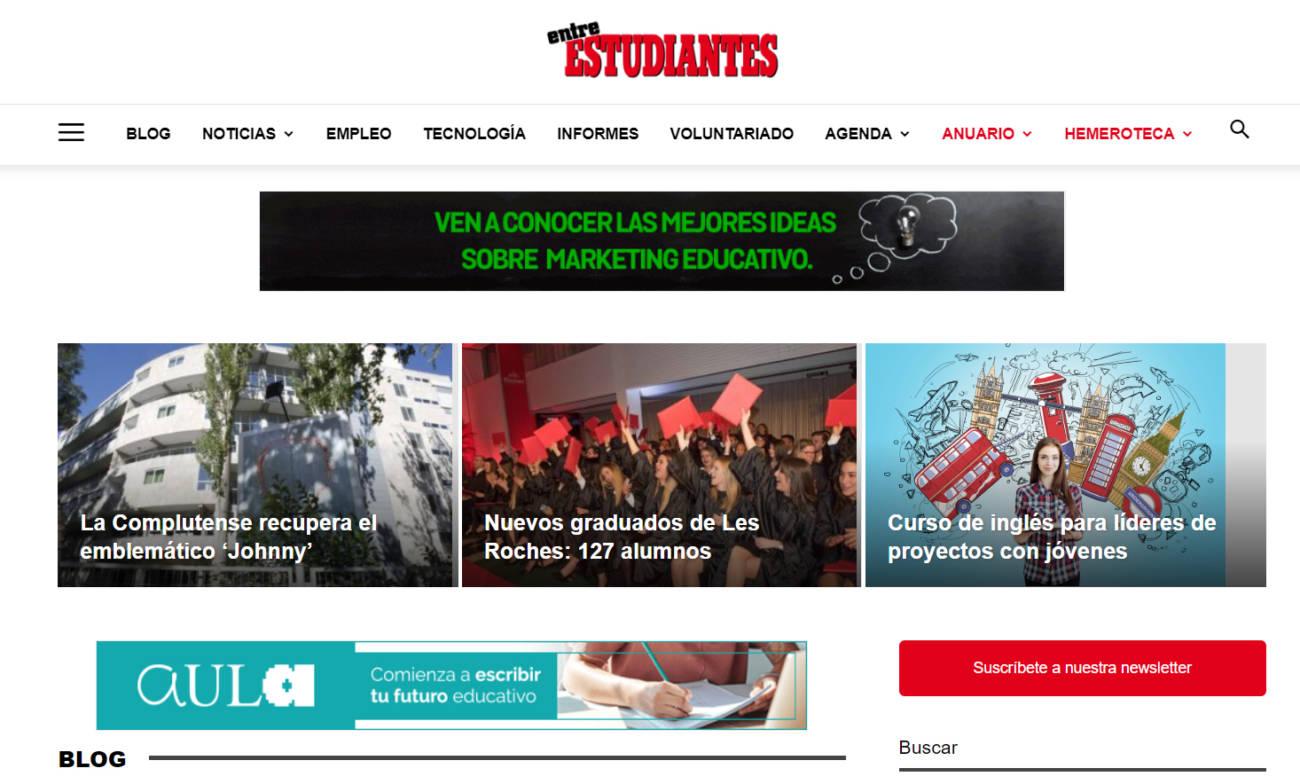 nueva web entre estudiantes