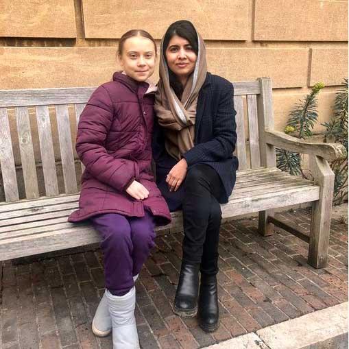 Malala y Greta
